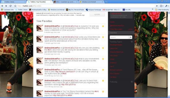 tweets to Veronica Sept 6
