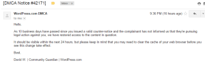 DMCA Notice  42171    msasg1970 gmail.com   Gmail