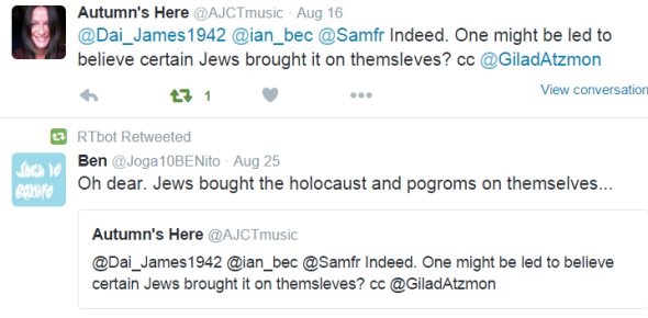 Alison Jews brough HOLOCAUST on themselves